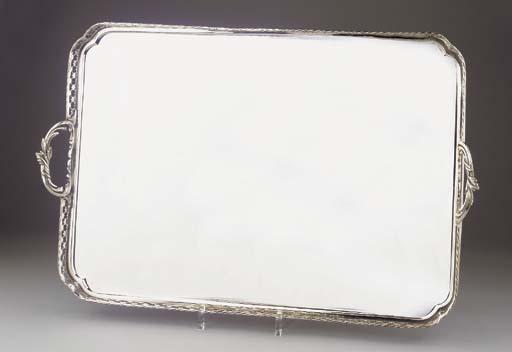 A large Dutch silver tray