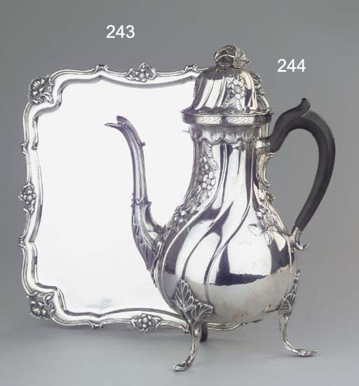 A Dutch silver coffee-pot