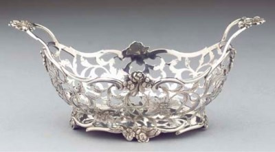 A small Dutch silver basket