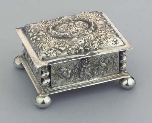 A German silver marriage caske