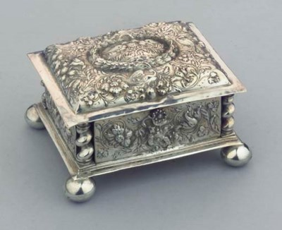 A German silver marriage caske