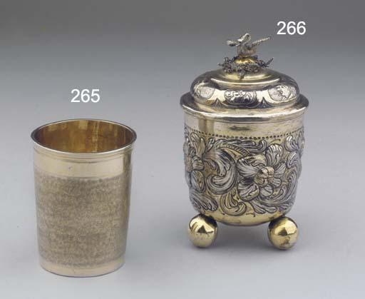 A Swiss silver-gilt snake-skin
