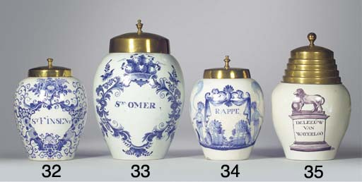 (2)  A Dutch Delft blue and wh