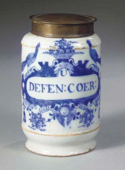 (2) A Dutch Delft blue and whi