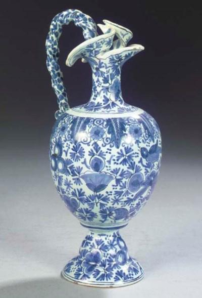 A Dutch Delft blue and white p