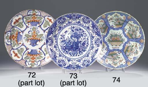 (3)  Three Dutch Delft polychr