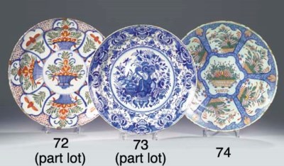 A Dutch Delft polychrome 'pani