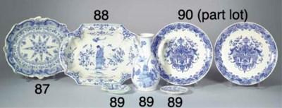 (3)  A pair of Dutch Delft blu