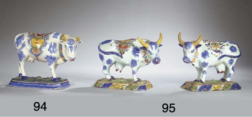 (2)  A pair of Dutch Delft pol