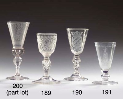 (2) A Dutch-engraved faceted a