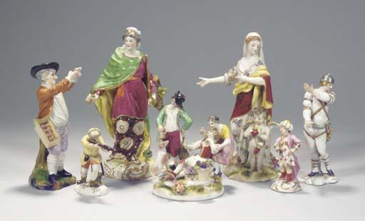 (7   A collection of seven por