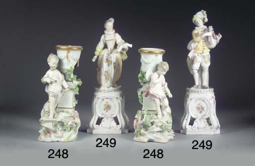(2)  A pair of Derby porcelain
