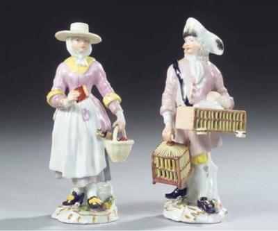 (2) A pair of Meissen porcelai