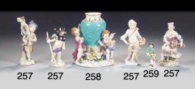 A miniature Meissen porcelain