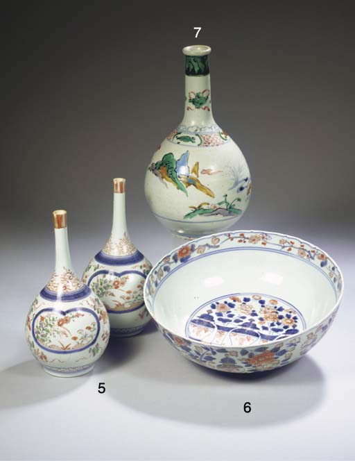 A ko-kutani style bottle vase
