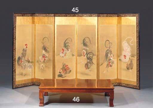 A Byöbu five-fold screen