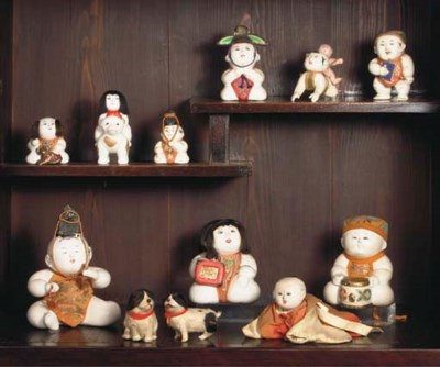A collection of ten Gosho Ning