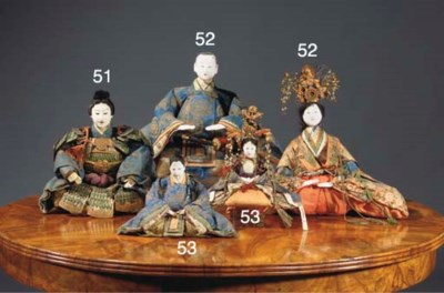 A pair of festival dolls