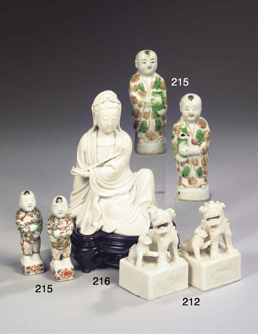 A pair of blanc-de-Chine model