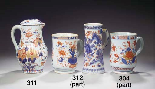 An Imari jug and cover