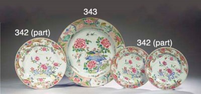 An assorted group of plates, c