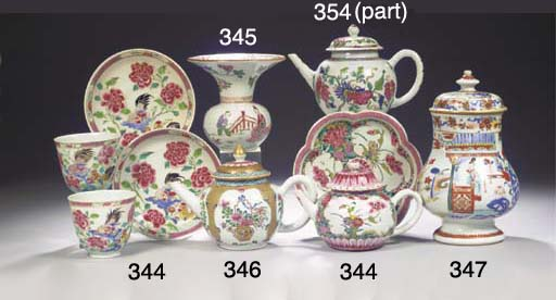 A famille rose spittoon