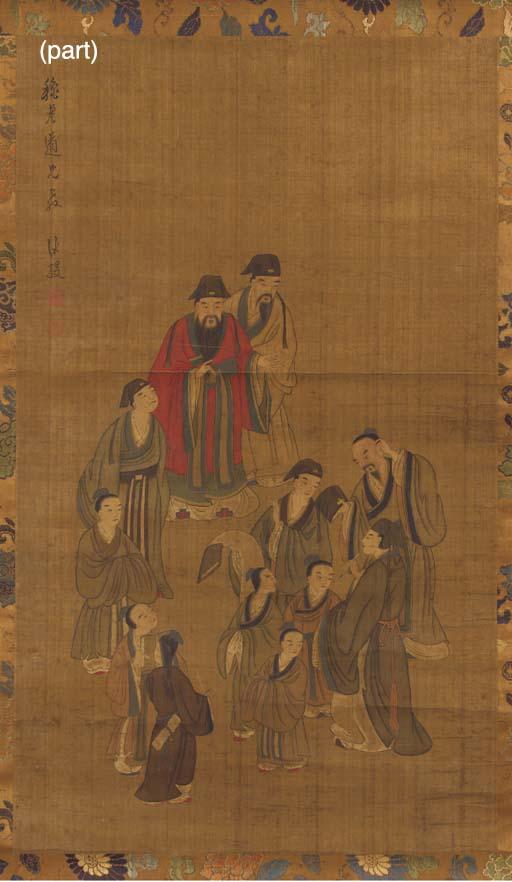 A pair of scroll paintings