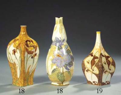 (2) AN EGG-SHELL PORCELAIN VAS
