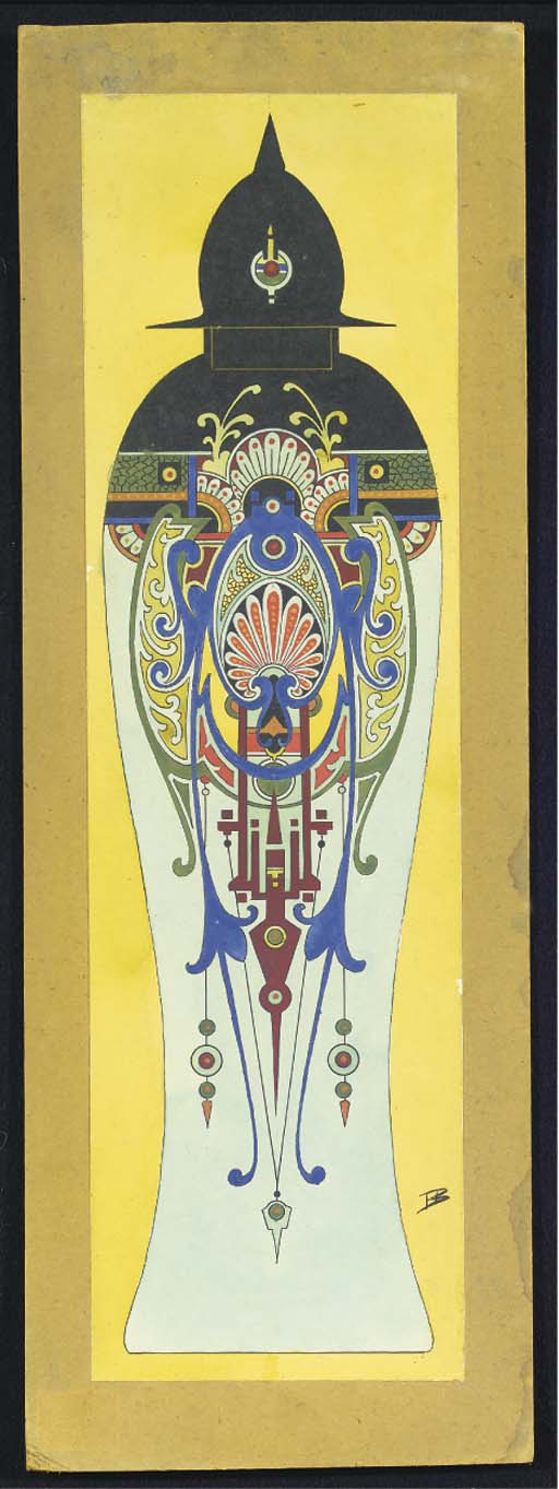 A DESIGN-DRAWING FOR A VASE AN
