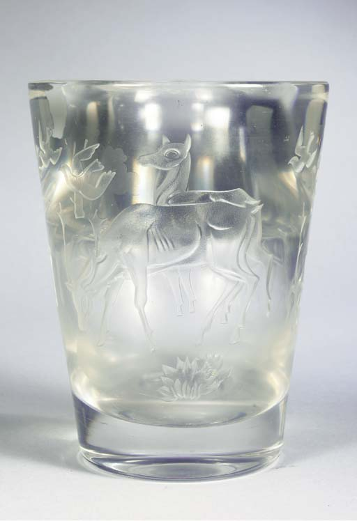 A SANDBLASTED AND ETCHED GLASS