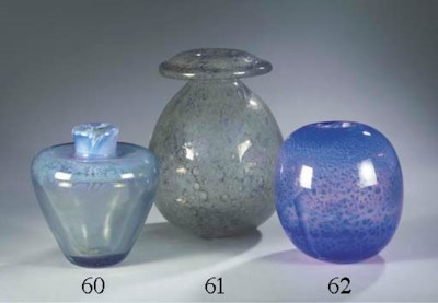 AN UNICA GLASS VASE
