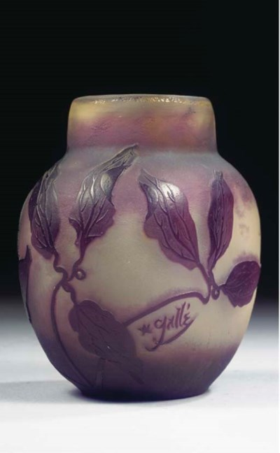 A CAMEO GLASS VASE
