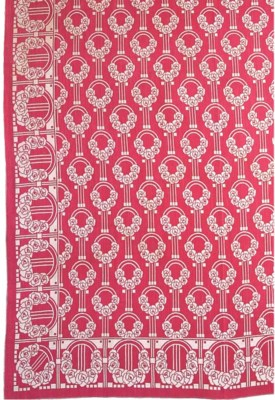 A COTTON AND WOOL TABLECLOTH