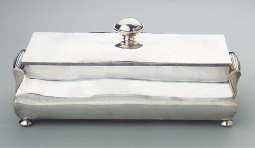 A SILVER BOX AND COVER