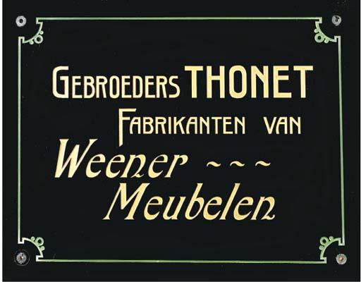 A black glass nameplate