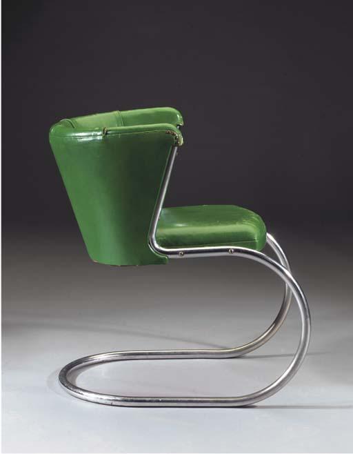 A tubular metal chair