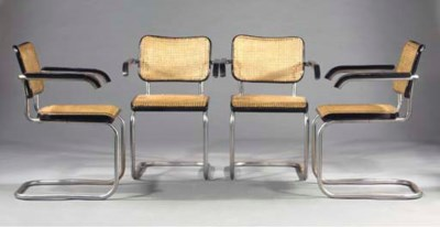 (4) B64, four armchairs