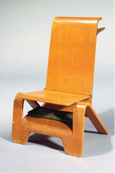 A laminated prayer-chair