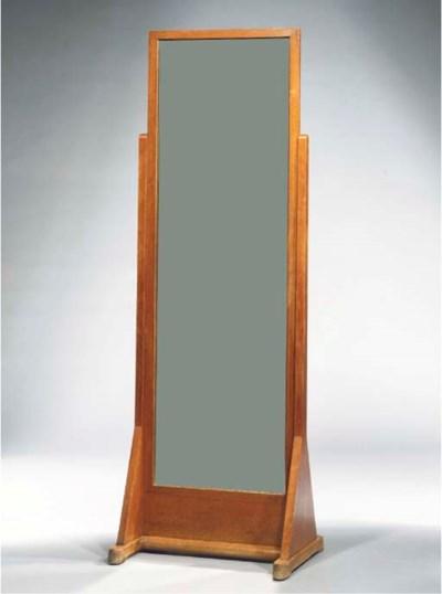 An oak fitting-mirror