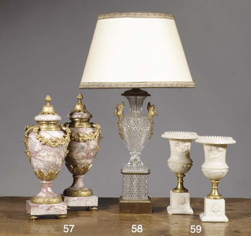(2) A pair of ormolu-mounted v