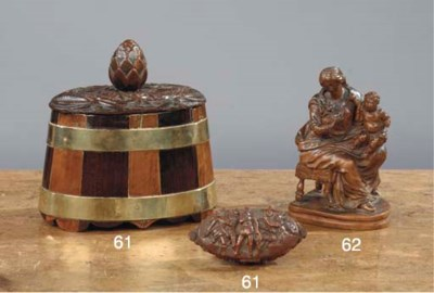 A CARVED BOXWOOD GROUP OF MARI