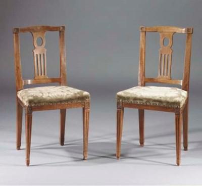 (2) A pair of Dutch mahogany d