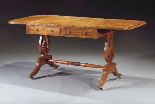 An English mahogany and calama