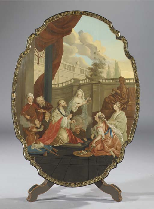 A dutch polychrome painted til