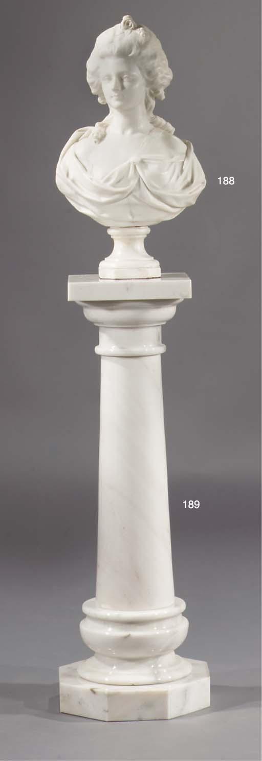 A white marble column