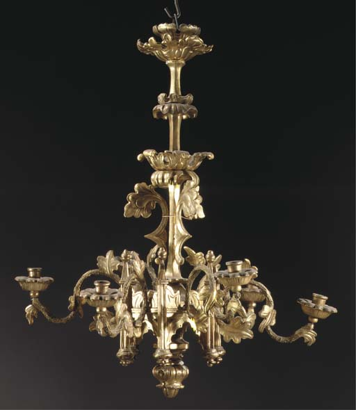 An Austrian giltwood and gesso