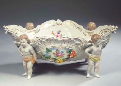 A Potschappel Saxon porcelain