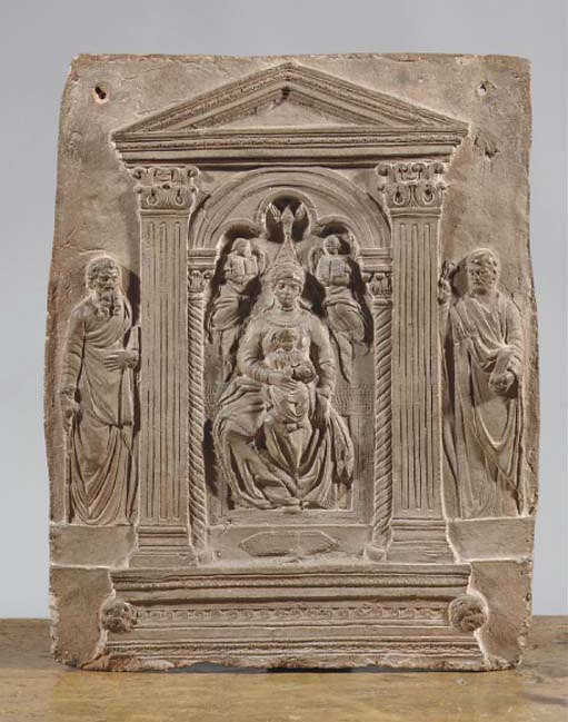An Italian terracotta relief p