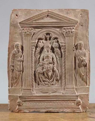 An Italian terracotta relief p