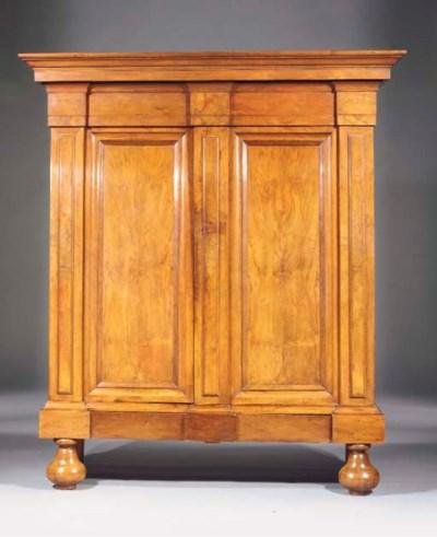 A Dutch walnut cupboard